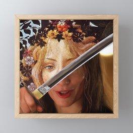 Kill Bill's Elle Driver & Botticelli's Flora Framed Mini Art Print