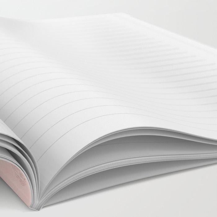 Rose Gold Pastel Pink Polka Dots Notebook