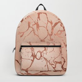 Modern abstract rose gold glitter stylish marble Backpack