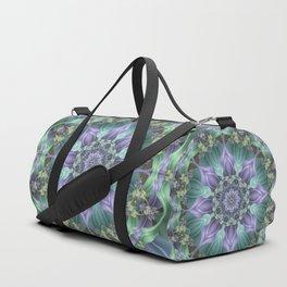 Ribbon Mandala in Blue and Purple Duffle Bag