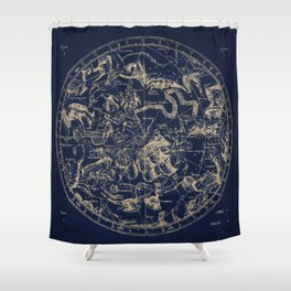 Gold Ceiling | Zodiac Skies Shower Curtain