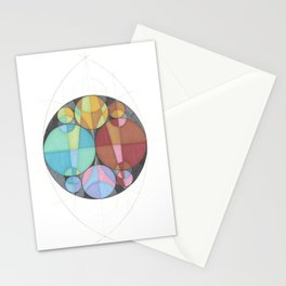 Eight Circles in a Circle Stationery Cards