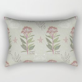 Folksy Sweet Joe Pye Colonial Pattern Rectangular Pillow