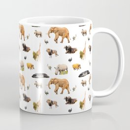 African Savanna Wildlife Pattern Coffee Mug