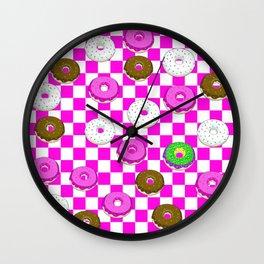A King Cake Donut Wall Clock