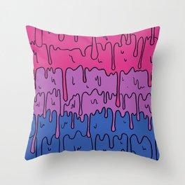 Pastel Kawaii Melting Bisexual Pride LGBTQ Design Throw Pillow
