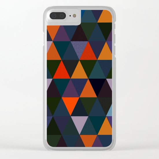 Abstract #296 Clear iPhone Case