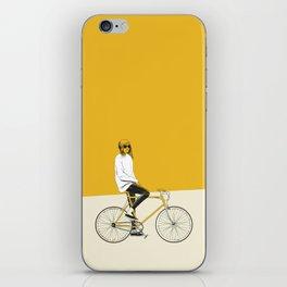 The Yellow Bike iPhone Skin