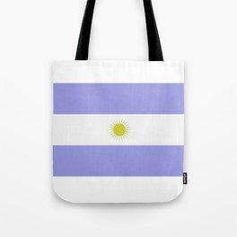 Argentine flag Tote Bag