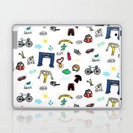 Triathlon Doodles Laptop & iPad Skin