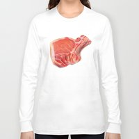 meat Long Sleeve T-shirts featuring Meat by Adriana de Barros