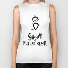 Programmer Ghost of Future (Semicolon) Error [black] Biker Tank