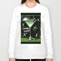 martini Long Sleeve T-shirts featuring Martini  by David Miley