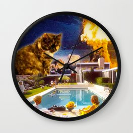 Midcentury Radioactive Cuddle Unit 5 Wall Clock