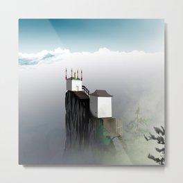 Cloudtop Temple Metal Print