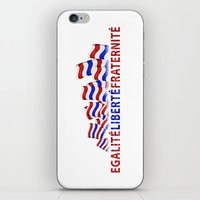 bastille iPhone & iPod Skins featuring Bastille Day by DFLC Prints