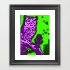 My Eyes Are Up Here #2 Framed Art Print