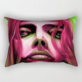 FaceonGreen Rectangular Pillow