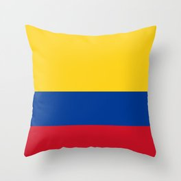 Colombian Flag - Flag of Colombia Throw Pillow