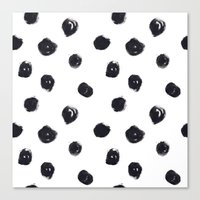polka dot Canvas Prints featuring POLKA DOT by Maria Parsons
