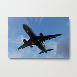 America West Airlines Airbus A320 sunset landing Metal Print