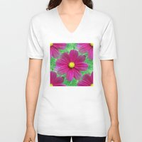 cosmos V-neck T-shirts featuring Cosmos by Judi FitzPatrick