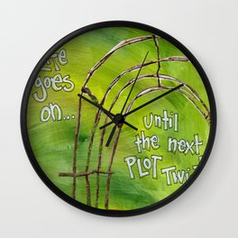 Plot Twist Wall Clock