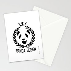 panda queen/king Stationery Cards