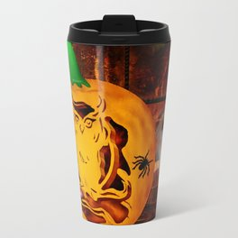 Sirens Pumpkin Carving Halloween Folk Art Travel Mug