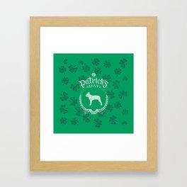 St. Patrick's Day Boston Terrier Funny Gifts for Dog Lovers Framed Art Print