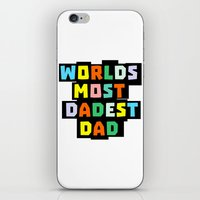 dad iPhone & iPod Skins featuring Dad by mailboxdisco
