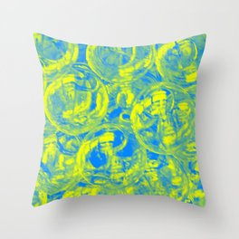 Abstract glass balls Throw Pillow