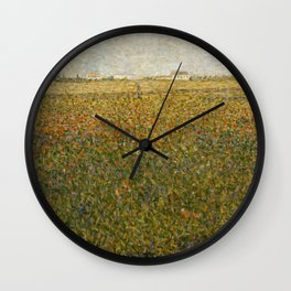 "Georges Seurat ""La Luzerne, Saint-Denis"" Wall Clock"