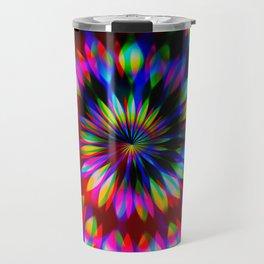Psychedelic Rainbow Swirl Travel Mug