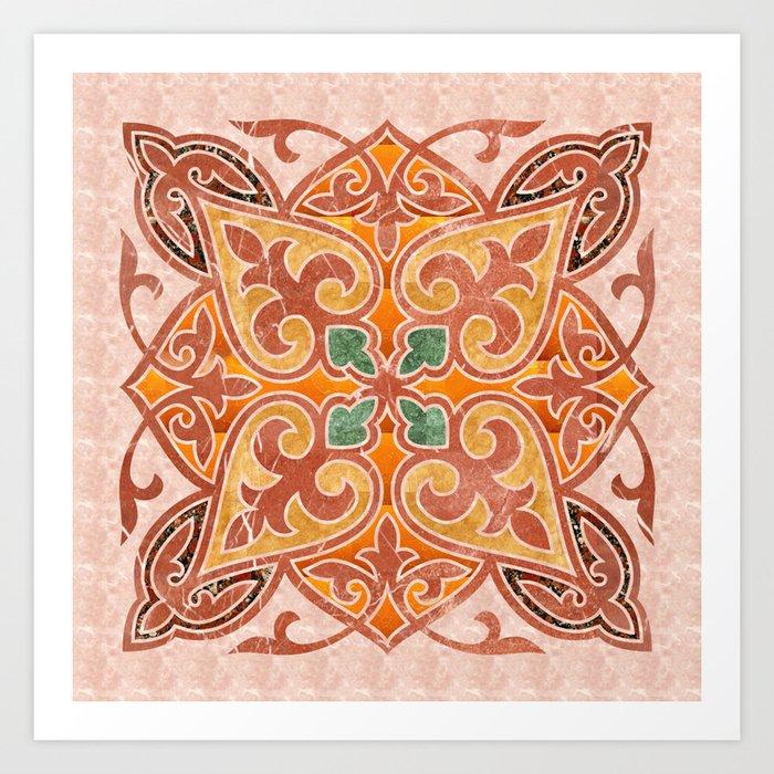 Brown Mandala 02 Art Print