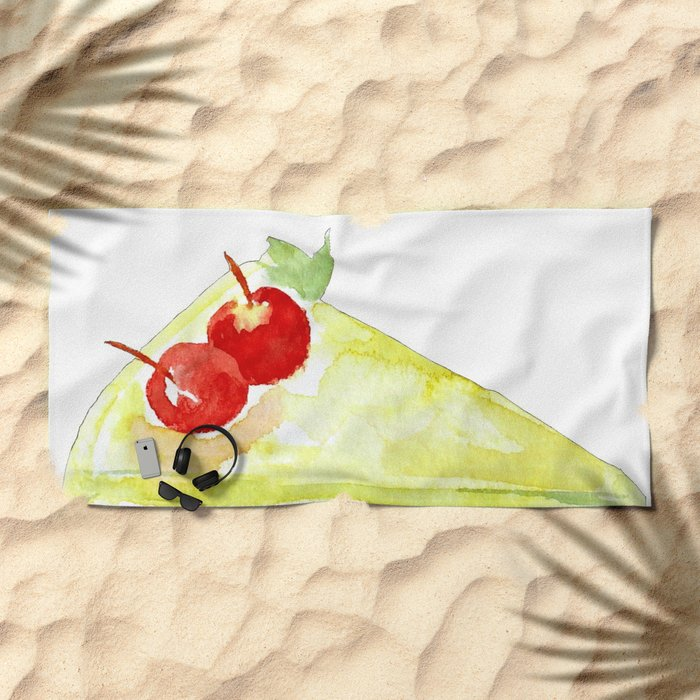 Lime Cake Beach Towel
