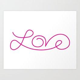 Love calligraphy print Art Print