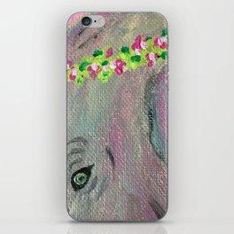Flower Crown Elephant iPhone Skin