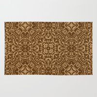 brown Area & Throw Rugs featuring Brown  by MinaSparklina