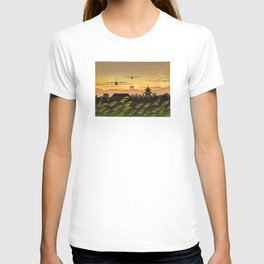 KC-130J Formation Flying into the Sunset T-shirt