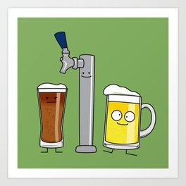 Beer Tap Trio Art Print