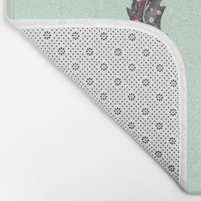 watercolor feathers (mint green) dos Bath Mat
