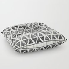 Tribal Geometric Chevron Stripes Floor Pillow