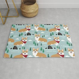 Corgi cannon beach oregon northwest vacation seaside welsh corgis Rug