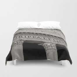 The Pantheon black and white Duvet Cover