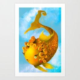 Mildred the Magic Goldfish Art Print