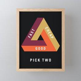 Pick Two Business Framed Mini Art Print