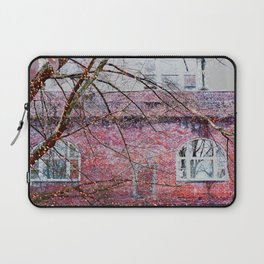 Brick Exterior with Lights Laptop Sleeve