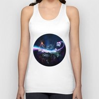 surrealism Tank Tops featuring Astronomical Hyper-Surrealism 'Pit Stop' by Jono Kivex