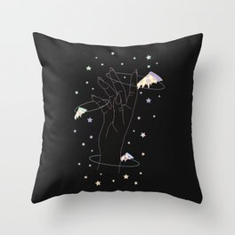 Lost One - Space Pizza Illustration Throw Pillow